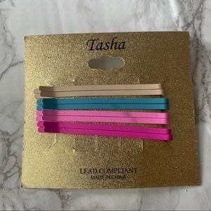 tasha multicolored hair pins 4 pairs